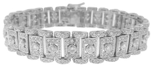 18KT WHITE GOLD MICRO PAVE SET DIAMOND BRACELET