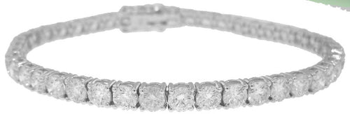 14KT WHITE GOLD 4-PRONG DIAMOND TENNIS BRACELET 8.72TW