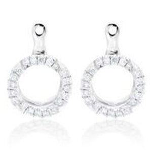14KT WHITE GOLD DIAMOND EARRING JACKETS