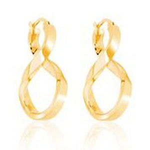 14KT YELLOW GOLD FANCY STYLE FIGURE 8 DANGLE EARRINGS