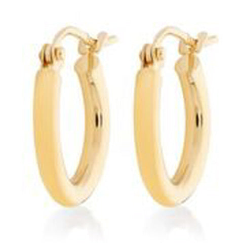 10KT YELLOW GOLD 2MM HOOP EARRINGS