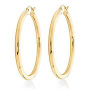 14KT YELLOW GOLD 3MM HOOP EARRINGS