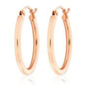 14KT ROSE GOLD 2MM HOOP EARRINGS