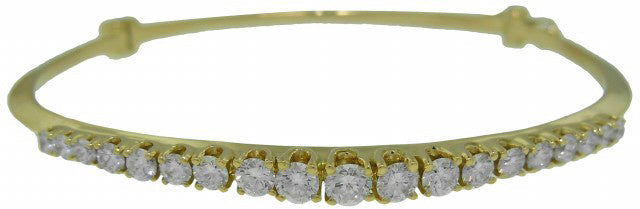 14KT YELLOW GOLD DIAMOND BANGLE BRACELET