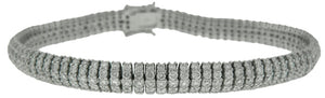 18KT WHITE GOLD DIAMOND BRACELET 7""