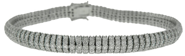 18KT WHITE GOLD DIAMOND BRACELET 7