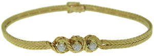"18KT YELLOW GOLD 7"" DIAMOND BRACELET"
