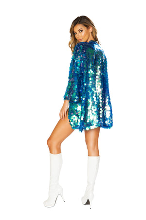 1pc Iridescent Sequin Robe