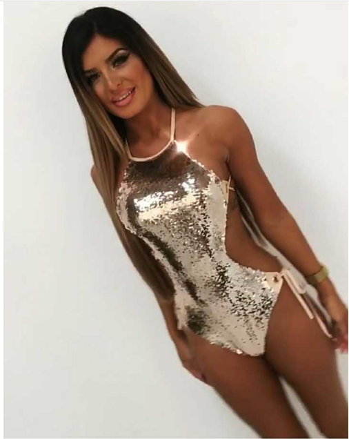 Sequined Sexy One Piece Swimsuit