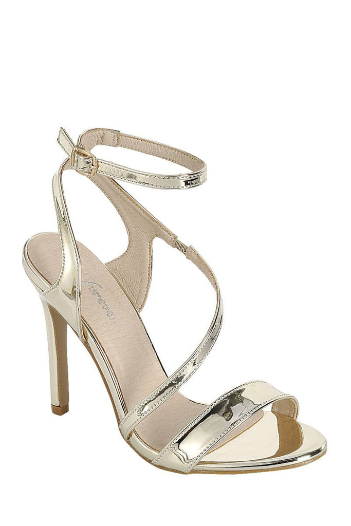 Ladies fashion high heel sandal, open almond toe, platform stiletto - StyleLure
