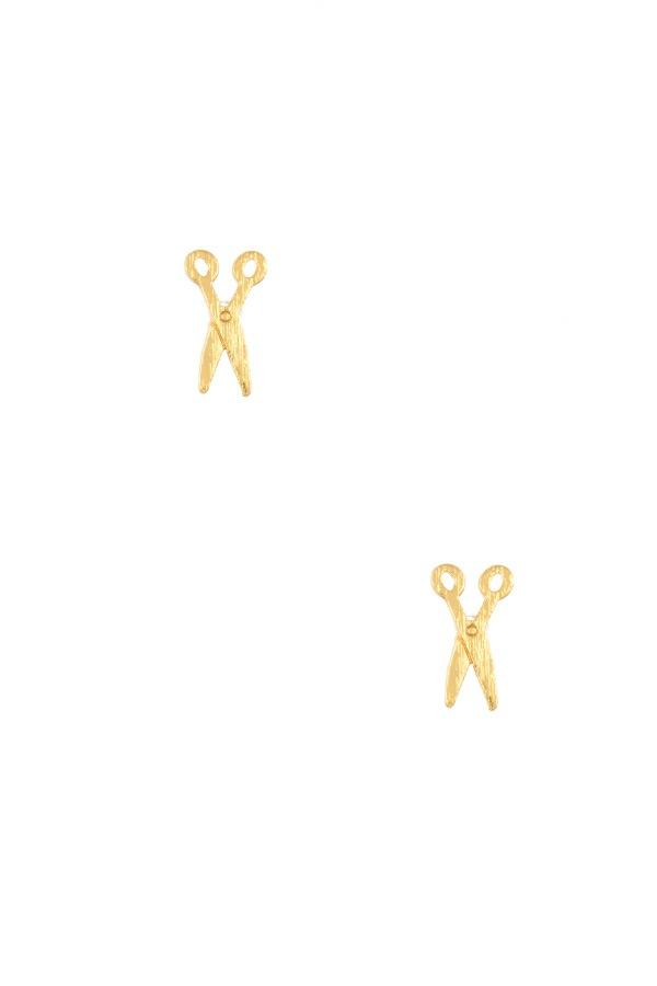 Ladies dainty scissors post earring - StyleLure