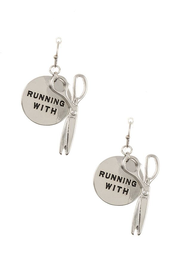 Ladies running with...disk dangle earring - StyleLure