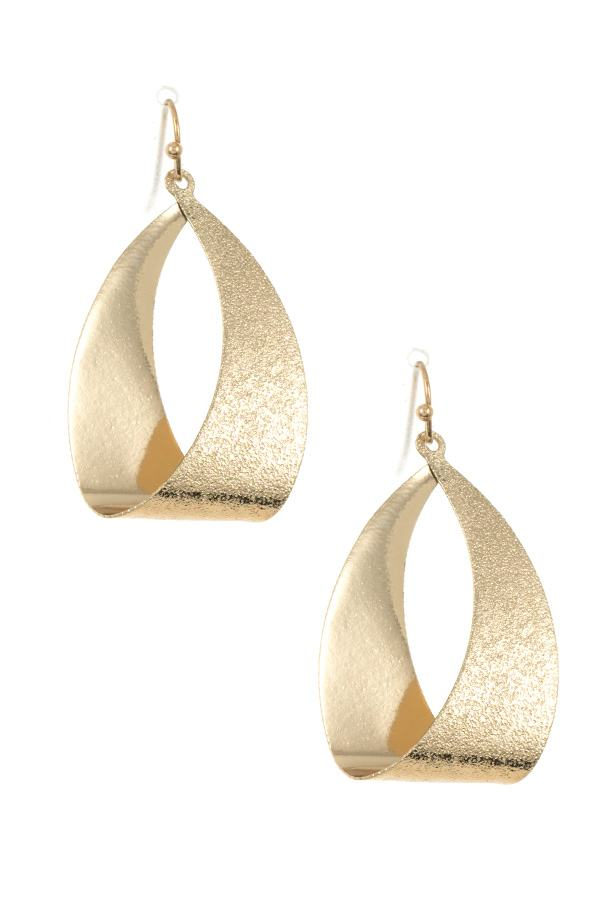 Loop texture drop earring - StyleLure