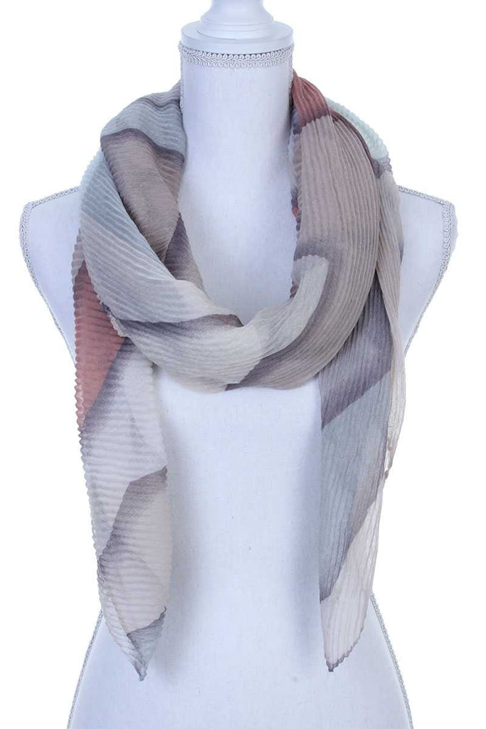 Textured oblong scarf - StyleLure