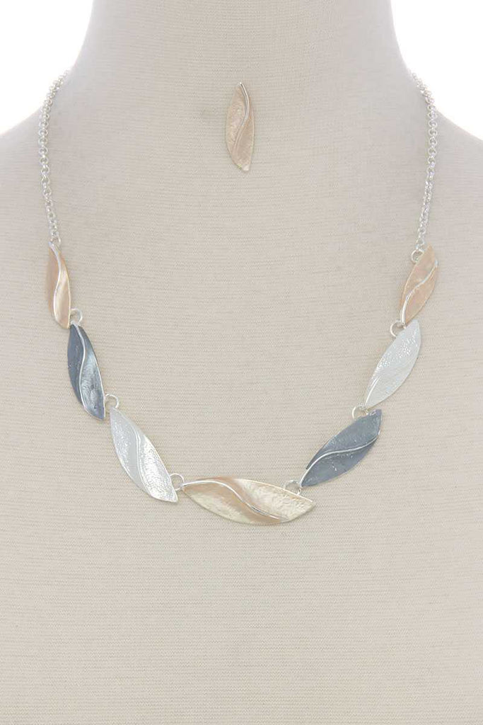 Long oval shape linked short necklace - StyleLure