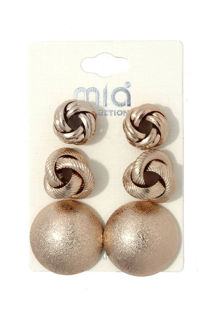 Metal earring set - StyleLure