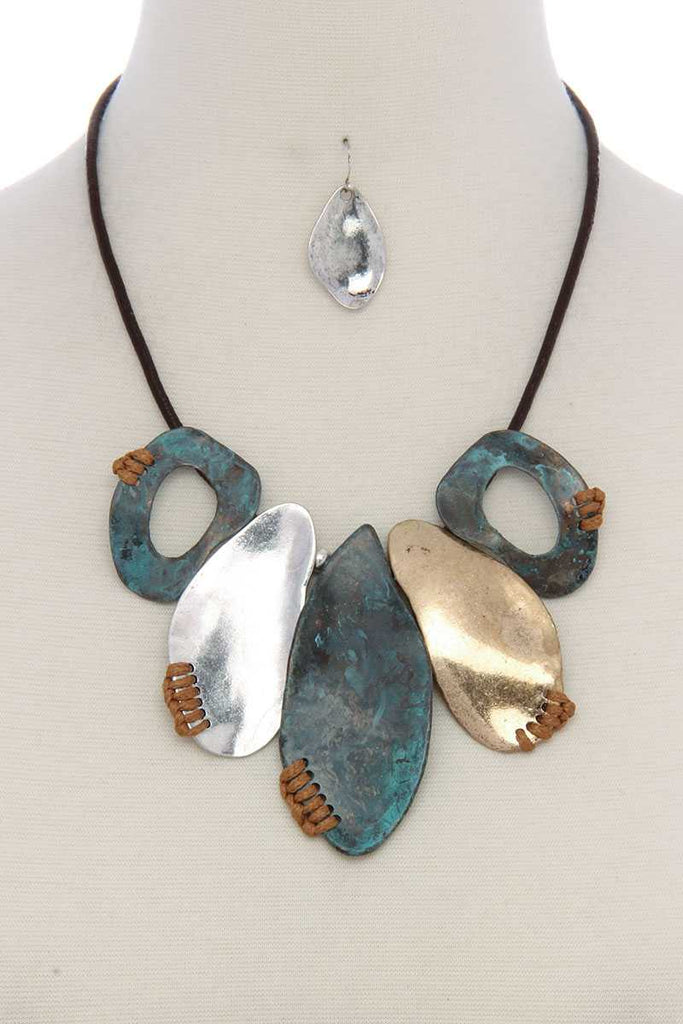 Organic shape short necklace - StyleLure