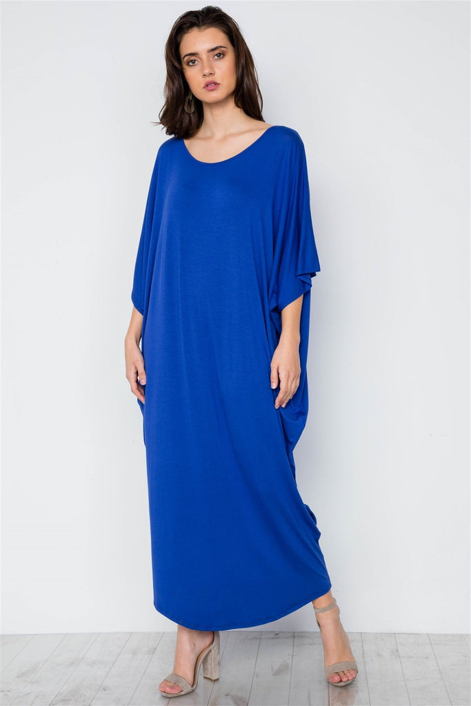 Basic Loose Fit Maxi Shirt Dress - StyleLure