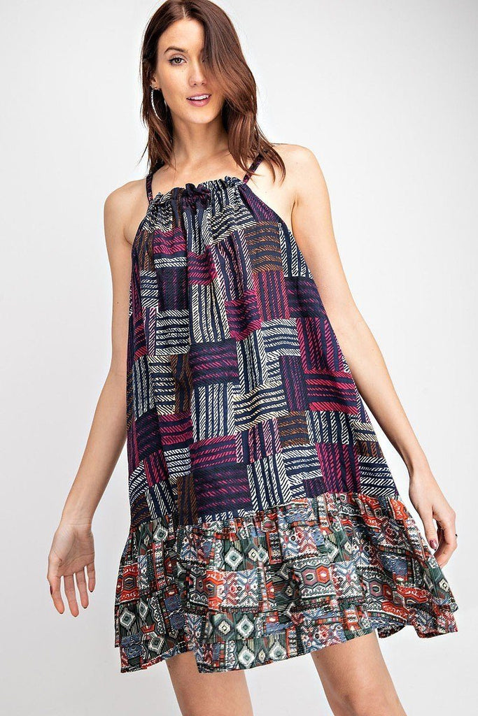 Cotton Voile Halter Dress - StyleLure