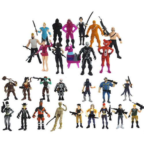 28pcs/lot Game Fortnight Battle Royale PVC Characters Kids Collection Models Doll Fort night Action Figure Toys Boys Girl Gifts