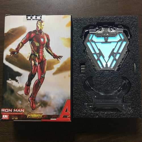 1:1 scale Iron Man Mark MK50 Nano Suit Armor Arc Reactor LED Light
