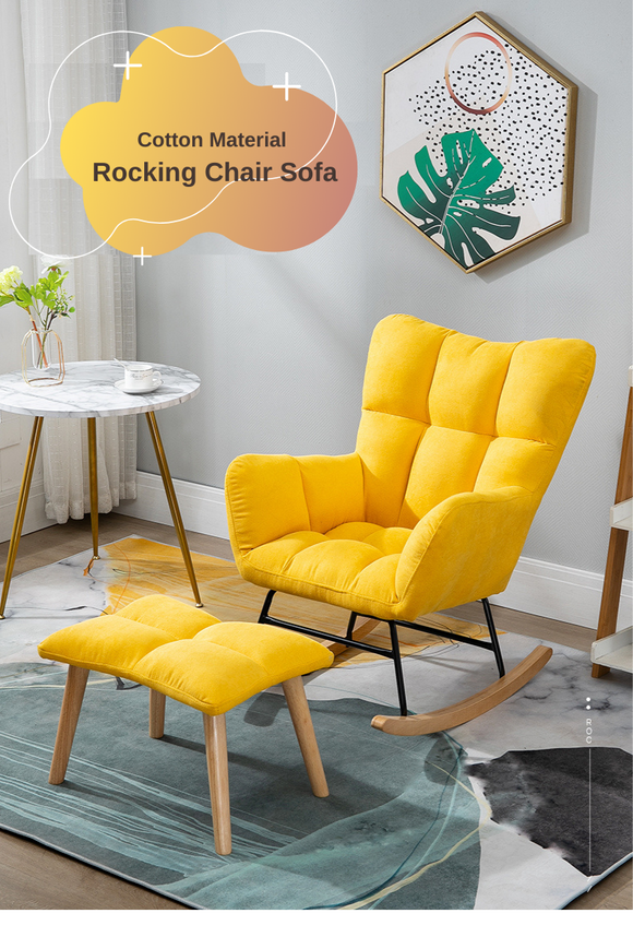 Cotton Material Rocking Chair Sofa