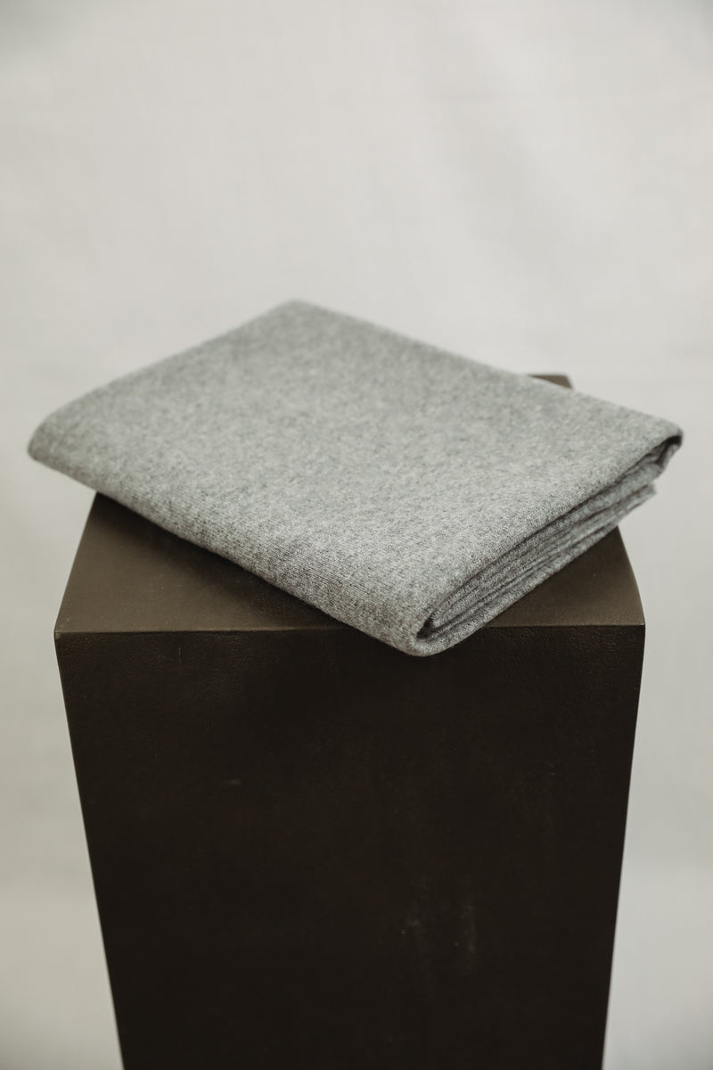 Cashmere Nursery Blanket - Heather Grey