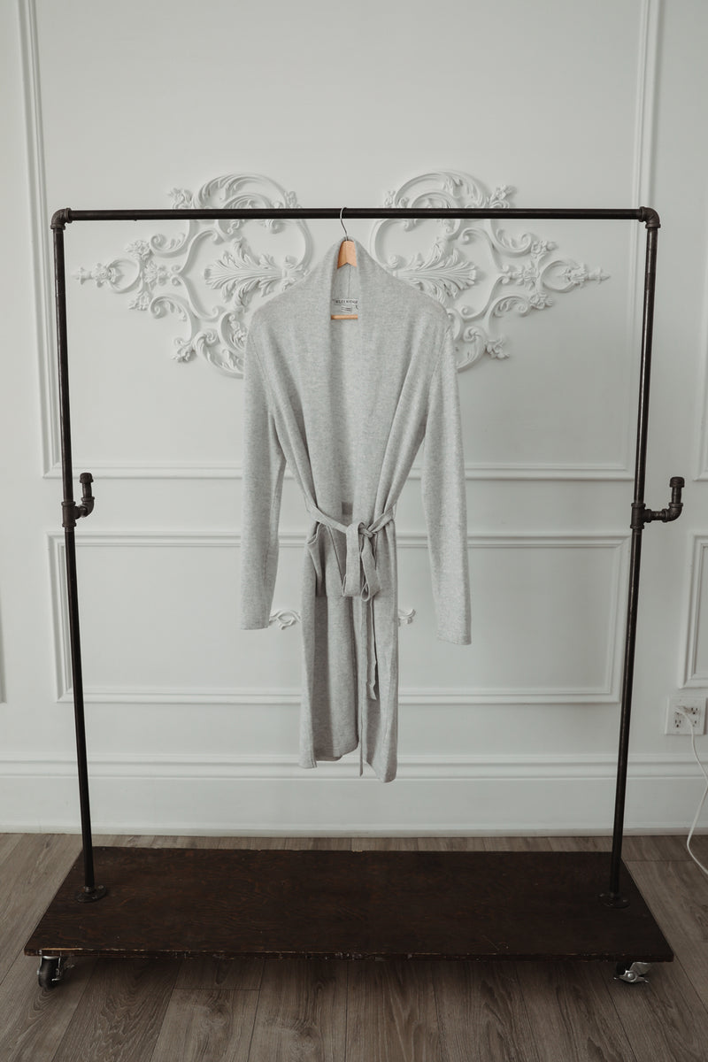 Cashmere Robe - Light Grey