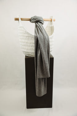 Cashmere Scarf - Heather Grey