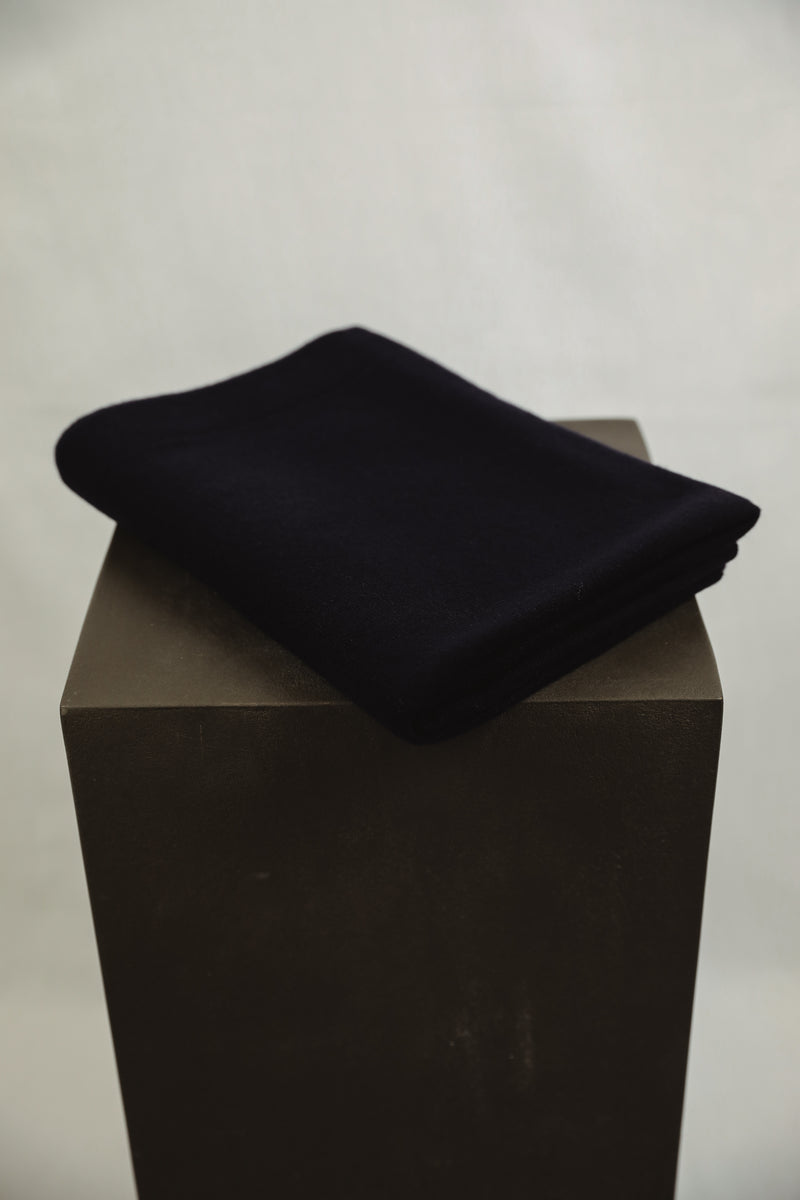 Cashmere Nursery Blanket - Dark Navy