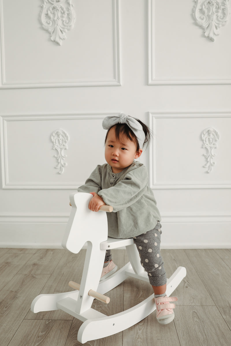 Cashmere Baby Bow Headband - Concrete