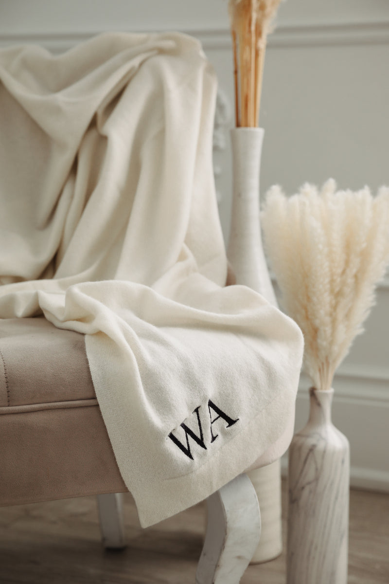 Cashmere Blanket - Heather Grey
