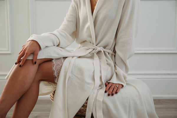 Cashmere Robe - Cream