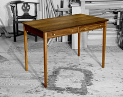 BREVIS desk-walnut, 2 drawer