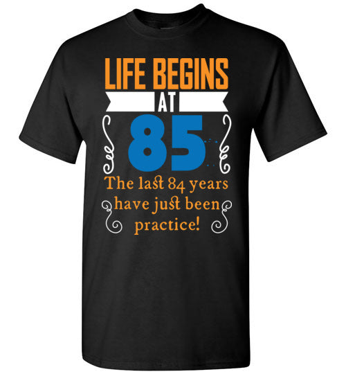 Life Begins At 85 Years Old 85th Birthday Gift Idea Tshirt