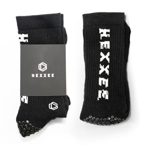 Black HEXXEE Pro Performance Grip Socks