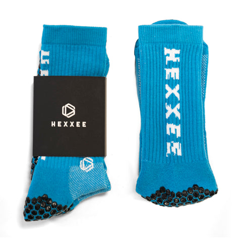 Blue HEXXEE Pro Performance Grip Socks