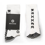 White HEXXEE Pro Performance Grip Socks