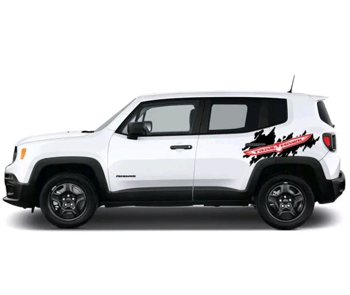 All year jeep renegade trailhawk side body decal kit many colors available