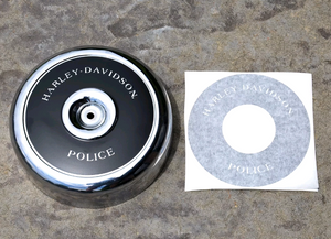 Harley police edition air cleaner decal