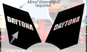 dodge ram truck bed daytona side decals blk