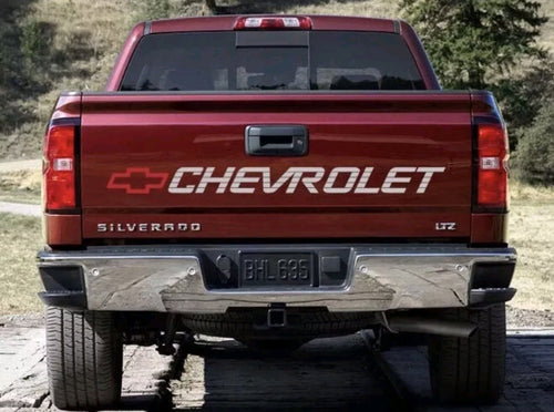 1920-2018 chevy tailgate decal 45'-6' plus free chevrolet windshield decal to match