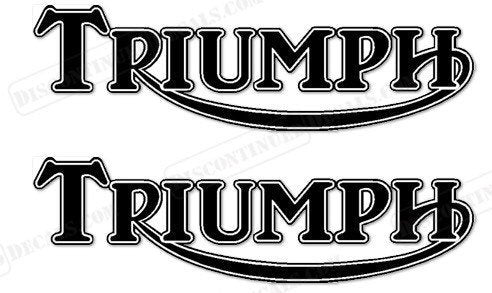 Triumph motorcycle gas tank decal set plus 1 free decal gift