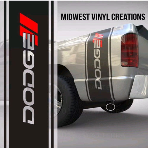 1950-2019 Dodge Ram 1500 3500 3500 truck bed stripe decal sticker set plus free gift. 11
