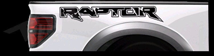 Ford F-150 raptor truck bed decal sticker set plus free gift