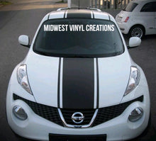 "Load image into Gallery viewer, Nissan Juke chevy spark smart car yaris center 11"" racing stripe set plus free gift"