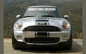 Mini Cooper center Racing Stripe Decal Sticker plus Free Gift