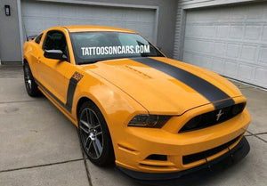 Ford mustang boss 302 hood and side stripe vinyl decal set.