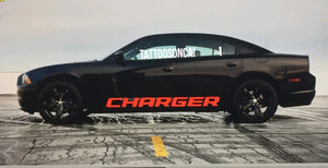 Dodge Charger lower door decal set left amd right side
