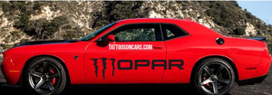 Monster edition mopar side body decal